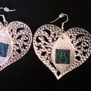 Rose Gold Heart NuNda's Boutique Earrings
