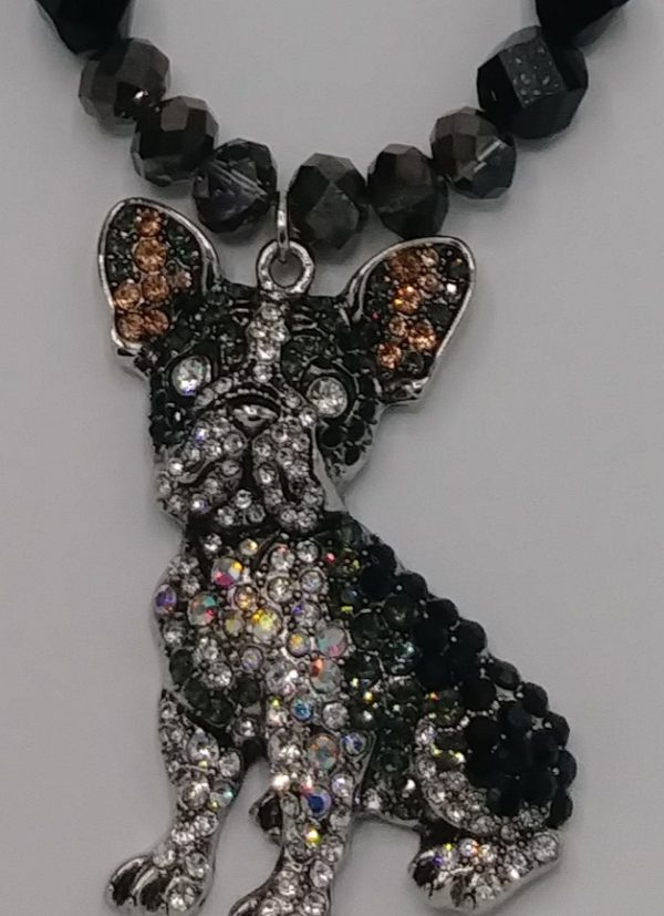 Diamond Studded Dog Necklace Set