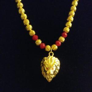 Gold Lion Of Judah Men Necklace