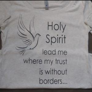 Holy Spirit Lead Me Women Long Sleeve Crewneck T Shirt