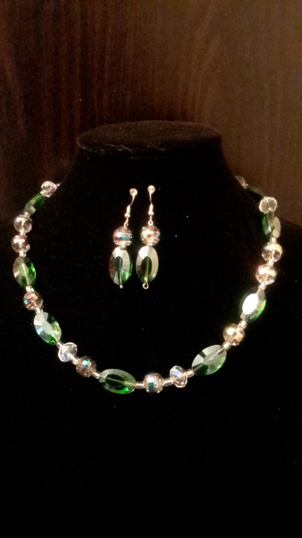 Dina Green and Translucent Colored Beaded Necklace