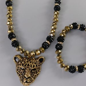 Men Panther Necklace Set 2021 Edition In Gold