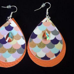 Orange Teardrop Earrings