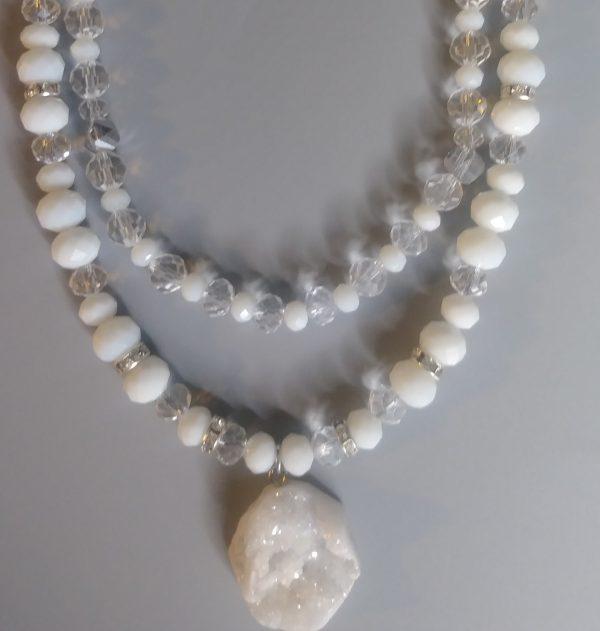 Multi Neck Pieces Alabaster White For Men