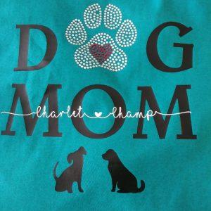 Rhinestone Dog Mom T-Shirt