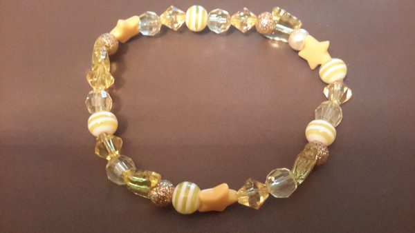 Roll-On Yellow Ankle Bracelet