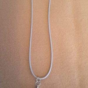 Adjustable Necklace With White Granite Charm