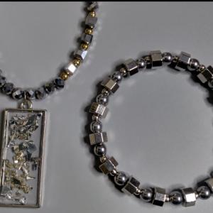 Men Chrome Necklace Set