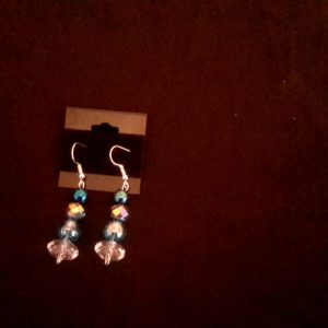TurQuoise And Sapphire Dangle Earrings