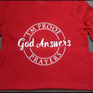 I'm Proof God Answers Prayers Women Long Sleeve T-Shirt