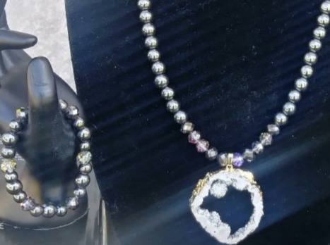 Metallic Men Necklace Set