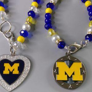 Michigan Necklace And Bracelet Set