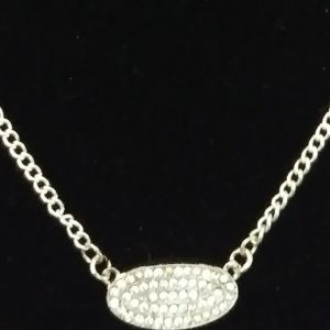 Silver Women Link Chain Set