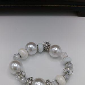 Studded White Bracelet