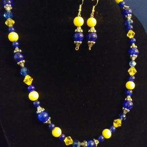 Breezy Slip On Women Blue And Yellow Necklace