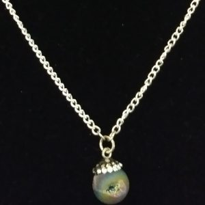 Silver Chain With Mushroom Charm Women Necklace Set