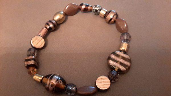 Roll-On Brown Ankle Bracelet