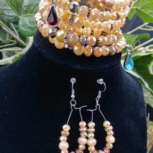 Malika Bracelet Set In Peach