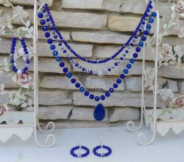 Titanic Royal Blue Women Necklace Set.