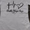 Faith Hope Love Crewneck Polo Shirt And Hat Set