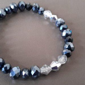 Men Charcoal And Silver Bracelet