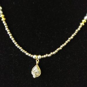 Silver Gold Men Necklace Set