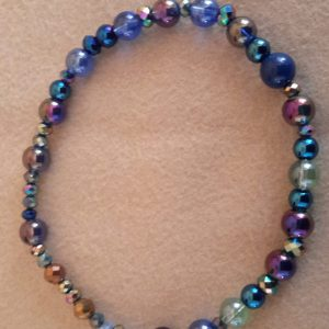 Roll-On Blue Medium Dog Necklace