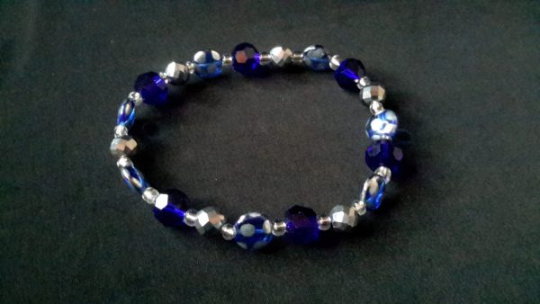 Men's Royal Blue And Silver Bracelet