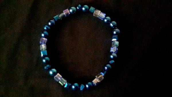 Ice Blue Men's Bracelet Size