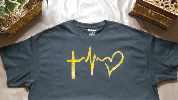 Holographic Heartbeat Unisex T Shirt