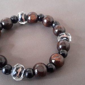 Brown And Black Tiger Stripe Men's Bracelet