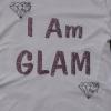 """ I Am Glam"" Polo T-Shirt (White)"
